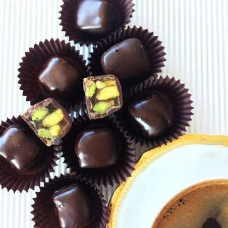 Bitter Çikolata Kaplamalı Antep Fıstıklı Lokum 200gr.